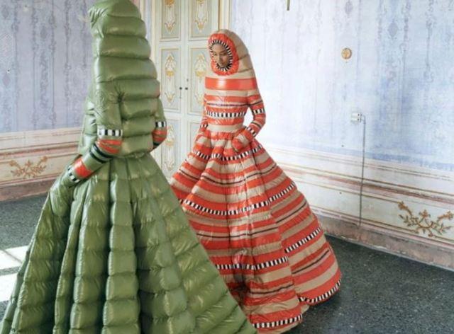 vestidos plumíferos