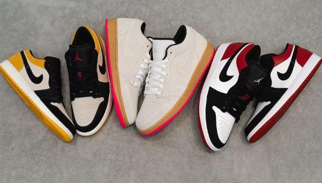El nuevo trío de Air Jordan 1 Lows se inspira en la cultura skater