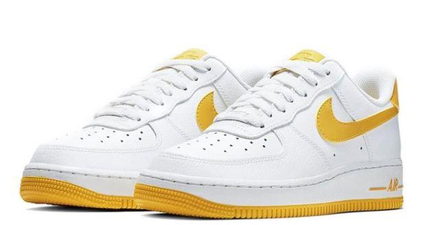 Nuevas Nike Air Force 1 blancas y amarillas llegarán en las próximas semanas