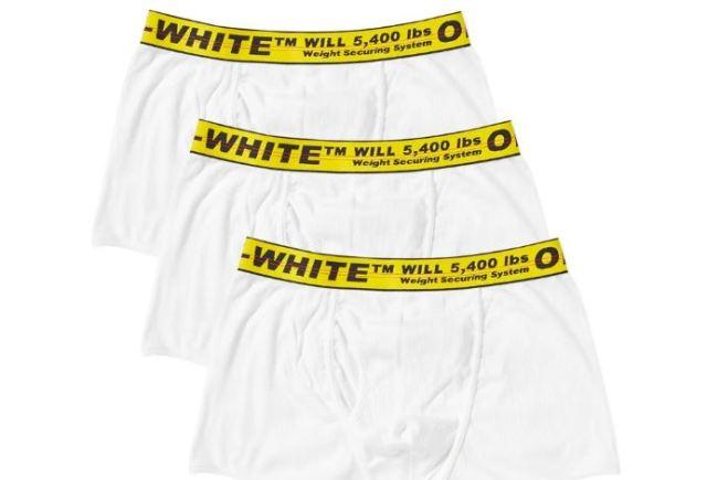 Los calzoncillos de Off White con su estilo industrial ya están disponibles