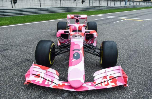 El coche de carreras BAPE x Fórmula 1 de camuflaje ya ha sido desvelado