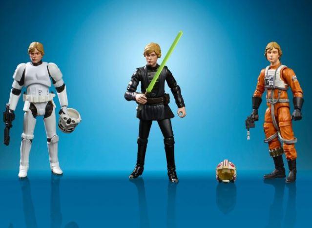 Hasbro nos trae de vuelta tres figuras retro de Star Wars