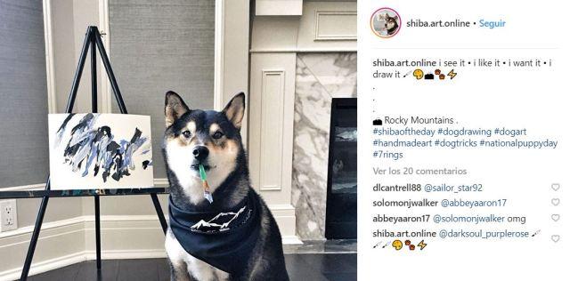 perro pintor