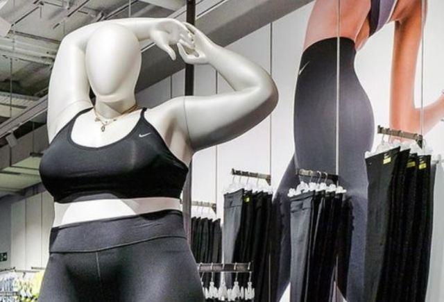 La tienda NikeTown de Londres añade maniquíes de talla grande para fomentar la inclusión en la ropa deportiva