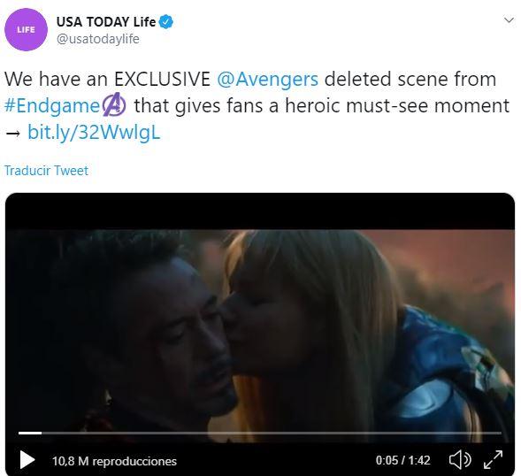 escena eliminada de Avengers