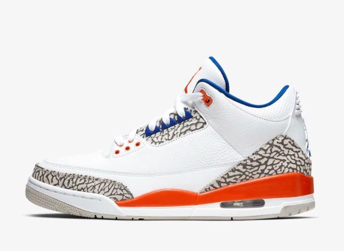 Air Jordan III White Orange