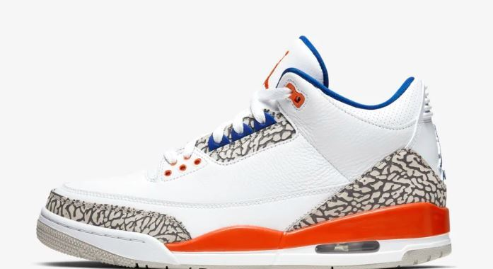 Air Jordan III White Orange