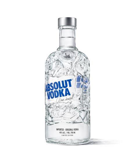 botella de vidrio reciclada