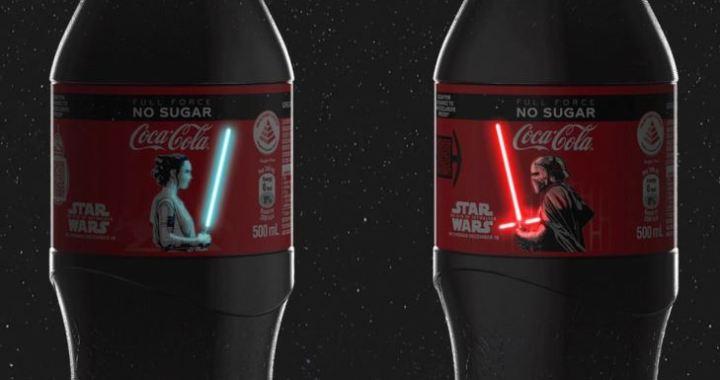 botellas con espadas láser