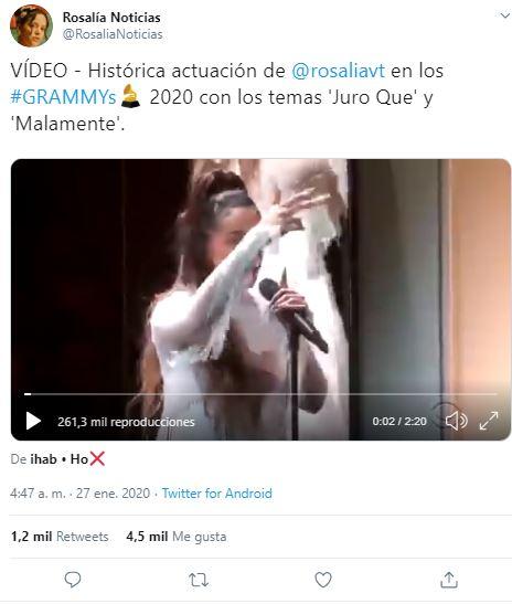 rosalía grammy 2020