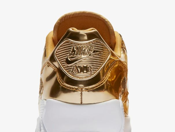 nike air max 90 metallic gold 3