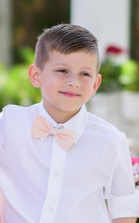 Perfectly Proper Pale Pink Bow Tie - Boys - Elzoria