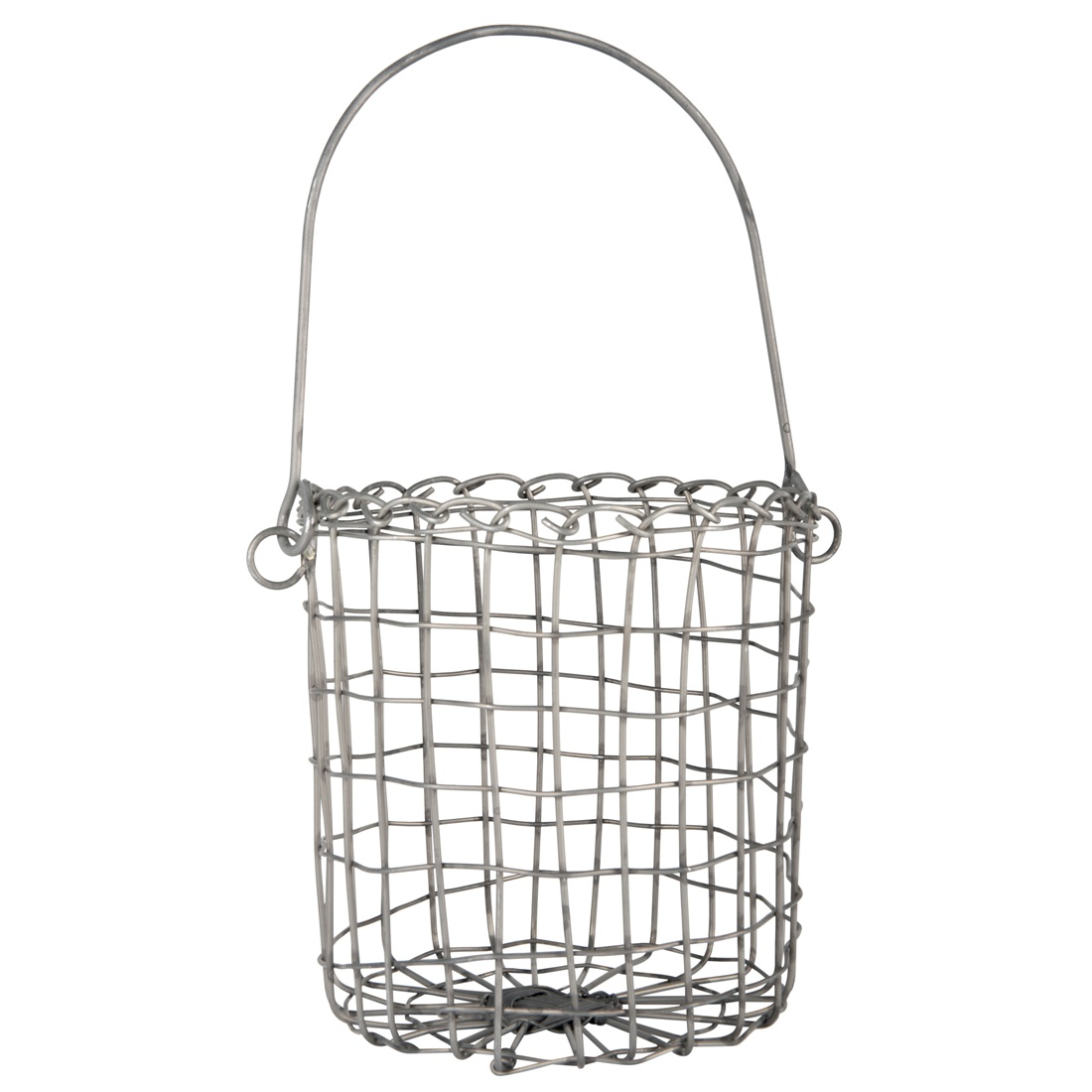 Small Round Metal Wire Hanging Basket Planter by Ib Laursen