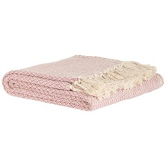 Sofa Bed Uk Under 100 Dimensions Of A Full Size Cotton Light Pink Window Pattern Throw Blanket By Ib Laursen Em Home Decor Homeware