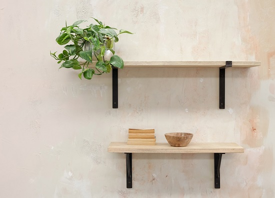 Batu Wall Shelf Solid Mango Wood Shelf Small 90 Cm By Nkuku 5055672444367 Ebay