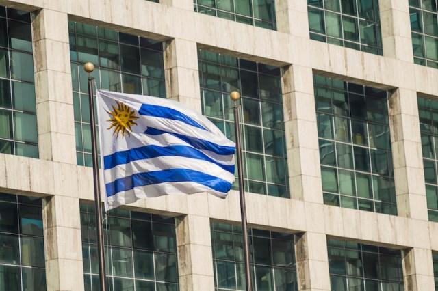 Torre Ejecutiva, the presidential premises in Montevideo, Uruguay.