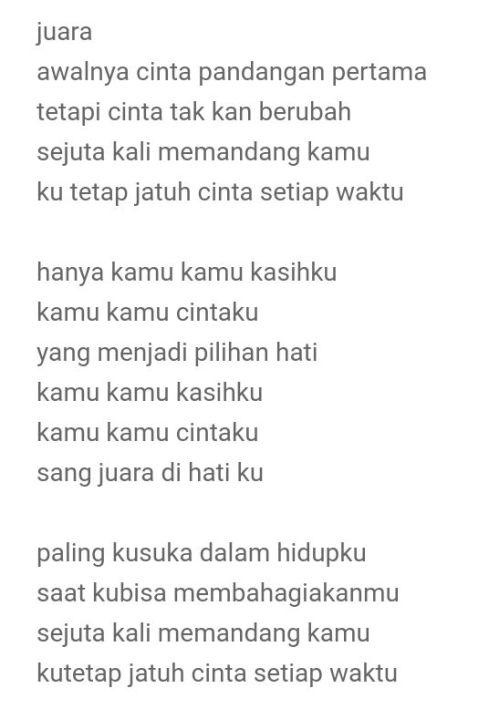 Download Lagu Juara Di Hatiku : download, juara, hatiku, Lirik, Juara, Belajar