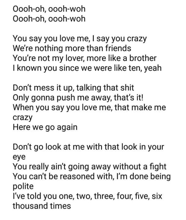 Song Lyrics Friends Marshmello Anne Marie Wattpad