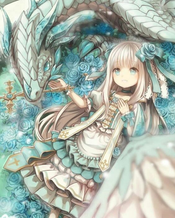 anime pictures dragon girl