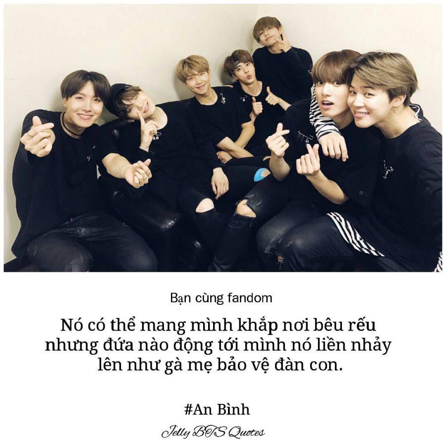 Đọc Truyện Quotes fan và Idol - Quotes 12: Bạn cùng fandom 3 - Jelly_BTS Quotes - Wattpad - Wattpad