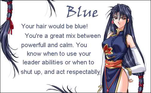 anime hair color meanings - blue