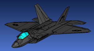 F22 model for Aircraft P-Static simulation and testing