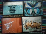 """Item#036 - four blank note cards - Guatemalan Graffiti - """"don't forget that the truth will set us free"""""""