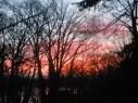 glowing sunrise over Mill Creek