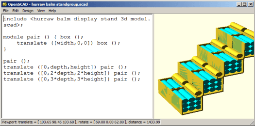 openscad screenshot