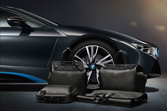 louis vuitton luggage set for 2014 bmw i8 04 570x378 Louis Vuitton Luggage Set for 2014 BMW i8