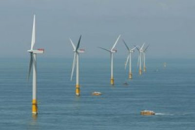 offshore wind energy. Greater Gabbard offshore wind farm Courtesy of SSE. Credit: chpv.co.uk/SSE/RWE
