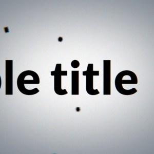 Black Particles Title