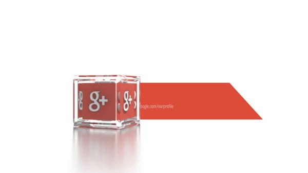 Social Icons Cube Googleplus