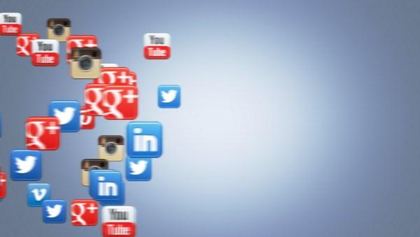 Social Icons Floating Googleplus