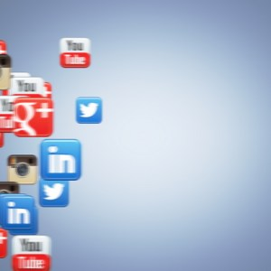 Social Icons Floating Youtube