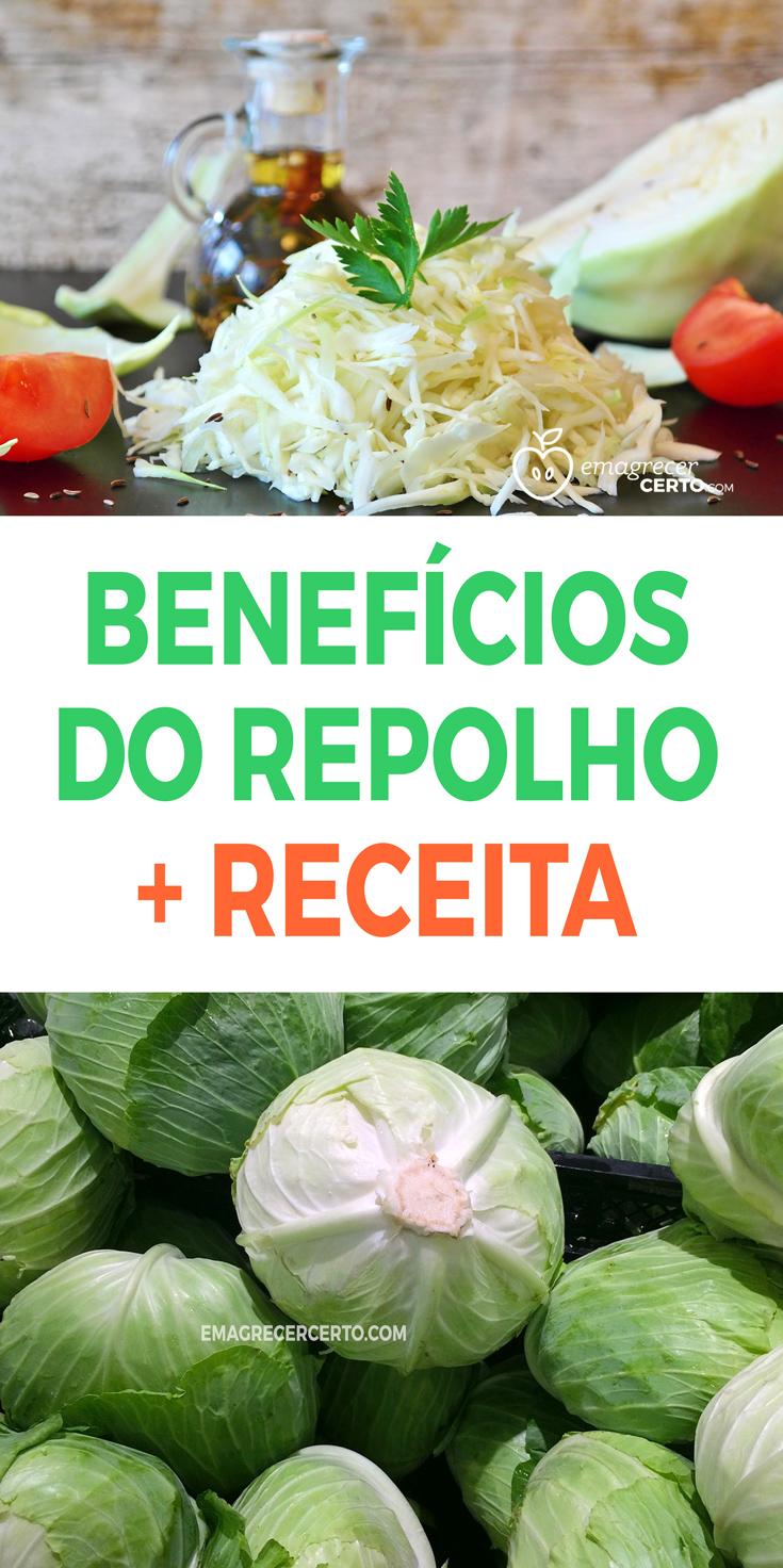 BENEFÍCIOS DO REPOLHO COM RECEITA Blog Emagrecer Certo