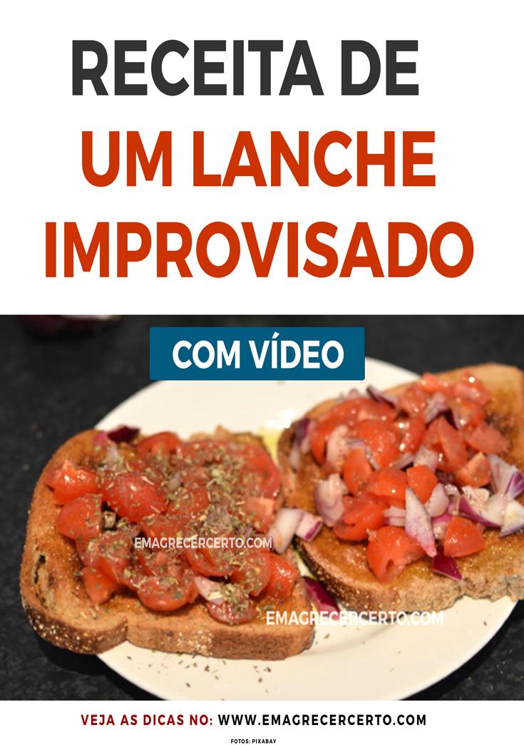 RECEITA DE LANCHE IMPROVISADO