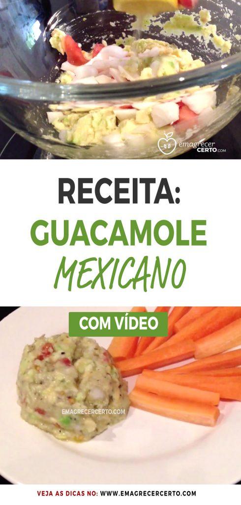 Receita Guacamole Mexicano no Blog EmagrecerCerto.com