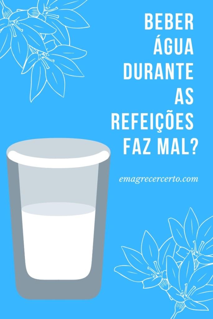 Beber água durante as refeições faz mal? #emagrecer #reeducacao #nutricao #hidratacao
