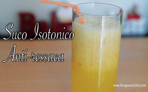 suco isotonico anti-ressaca