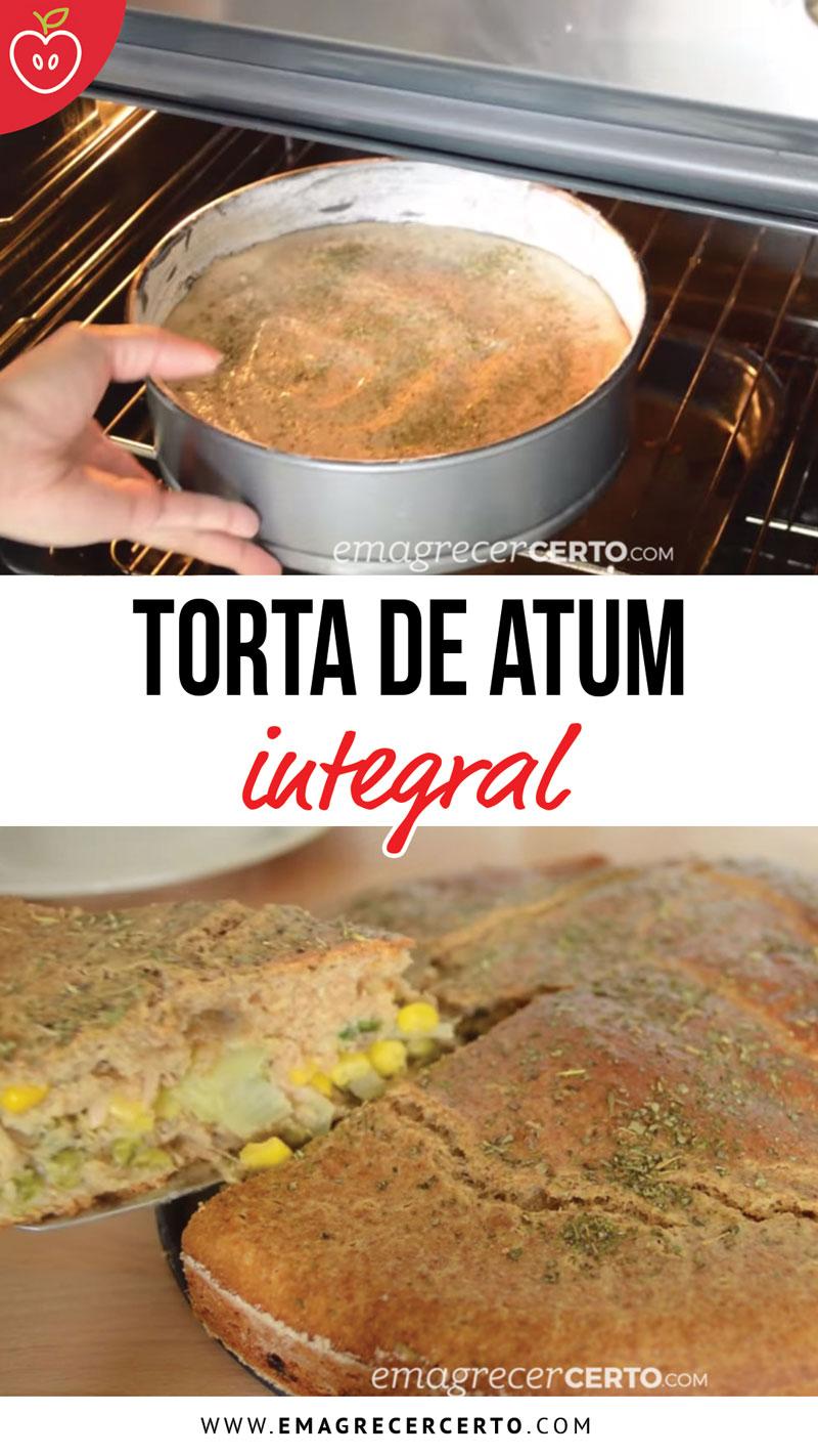 Torta integral de atum - blog Emagrecer Certo