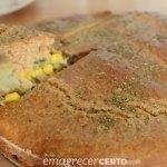 torta integral de atum pronta