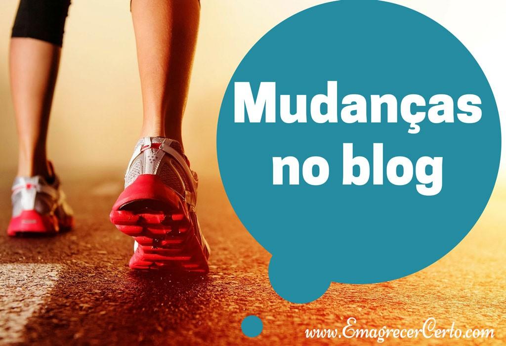 mudanças no blog
