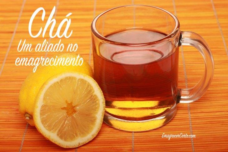 emagrecer bebendo chá