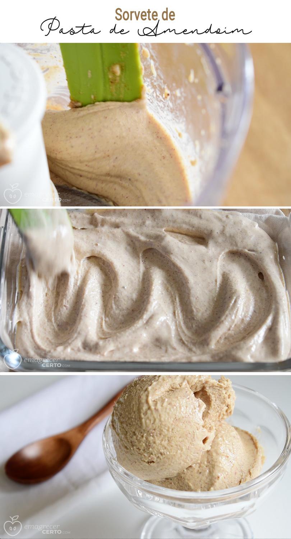 Sorvete de Pasta de Amendoim Blog EmagrecerCerto