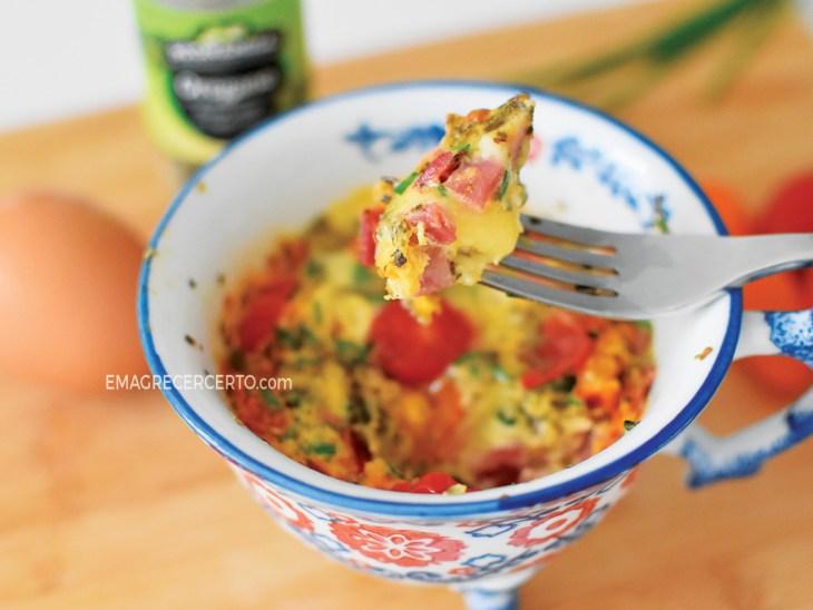 Omelete de caneca emagrecercerto