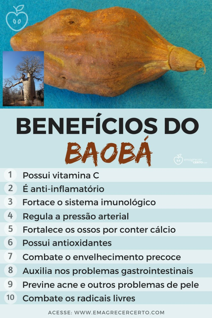 Superfood BAOBÁ - Benefícios e como usar - EmagrecerCerto.com