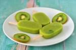 Picolé de kiwi natural   Blog Emagrecer Certo #frutas #saudável