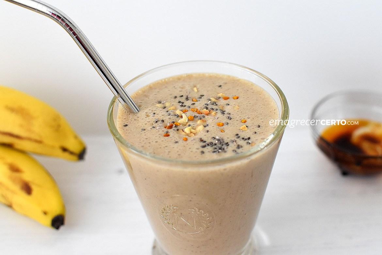 Smoothie energético com guaraná | blog Emagrecer Certo #smoothie #saudavel #pretreino #cafedamanha