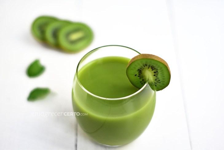 Smoothie verde de kiwi   Blog Emagrecer Certo